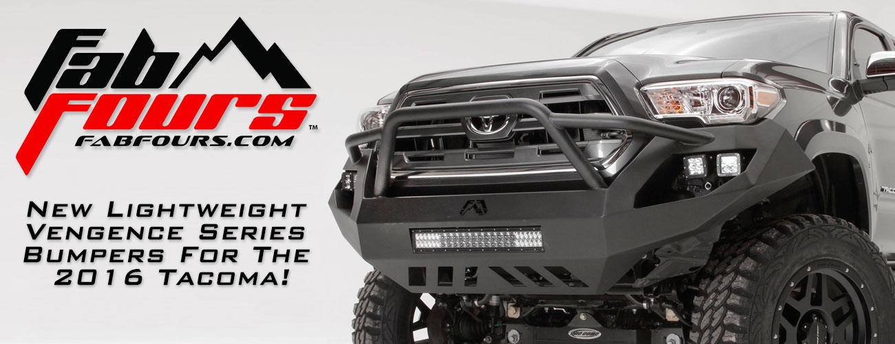 Lightweight, High-Clearance Bumper for your 2016 Tacoma!