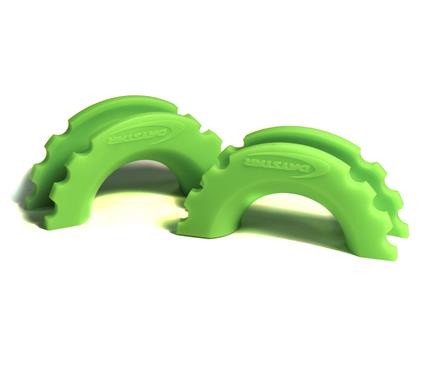 Daystar Snap-on D-Ring Isolator (Set of 2) - Neon Green