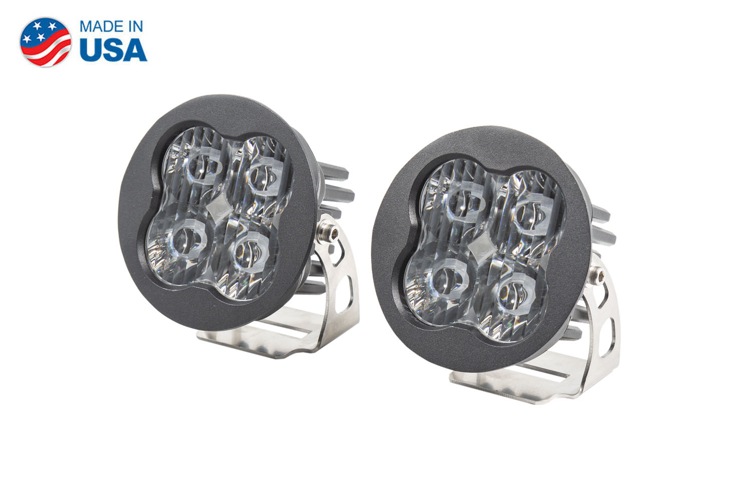 Diode Dynamics Worklight SS3 Sport White SAE Driving Round (pair)