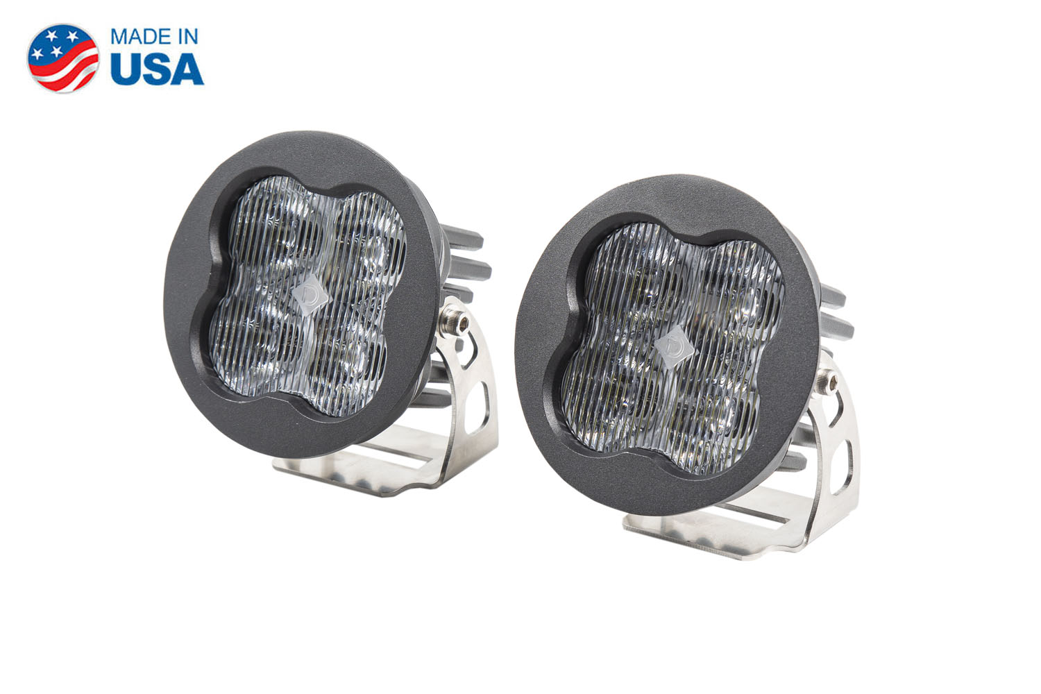 Diode Dynamics Worklight SS3 Pro White SAE Fog Round (pair)
