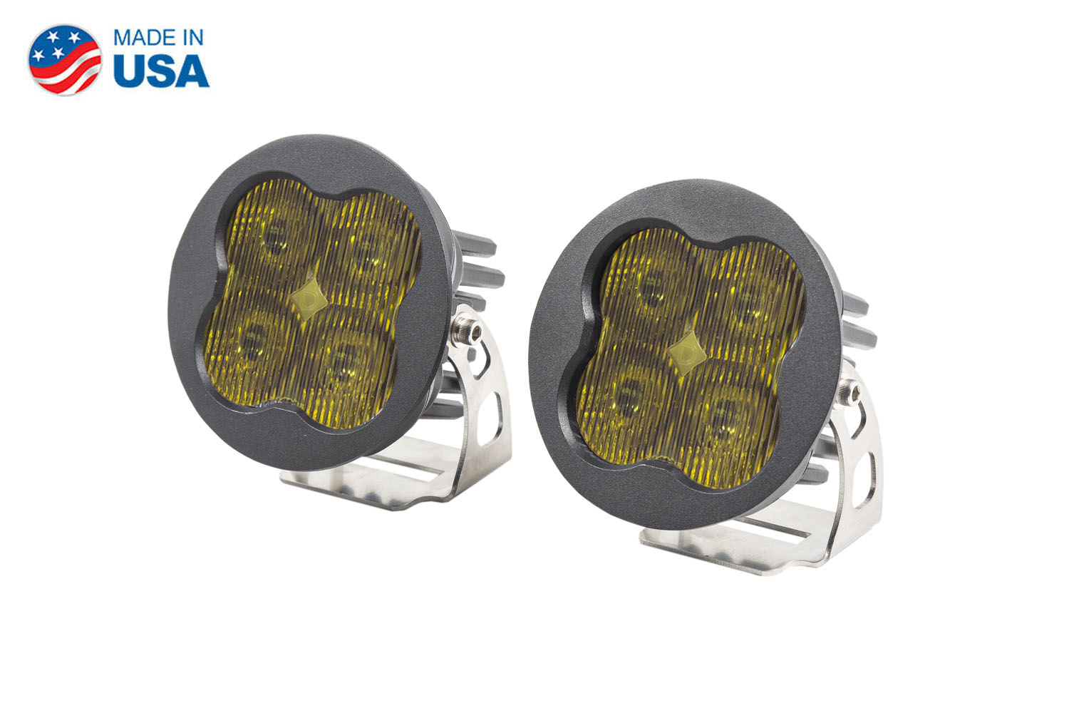 Diode Dynamics Worklight SS3 Pro Yellow SAE Fog Round (pair)