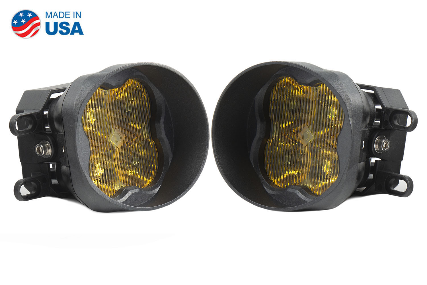 Diode Dynamics Worklight SS3 Sport Type B Kit Yellow SAE Fog