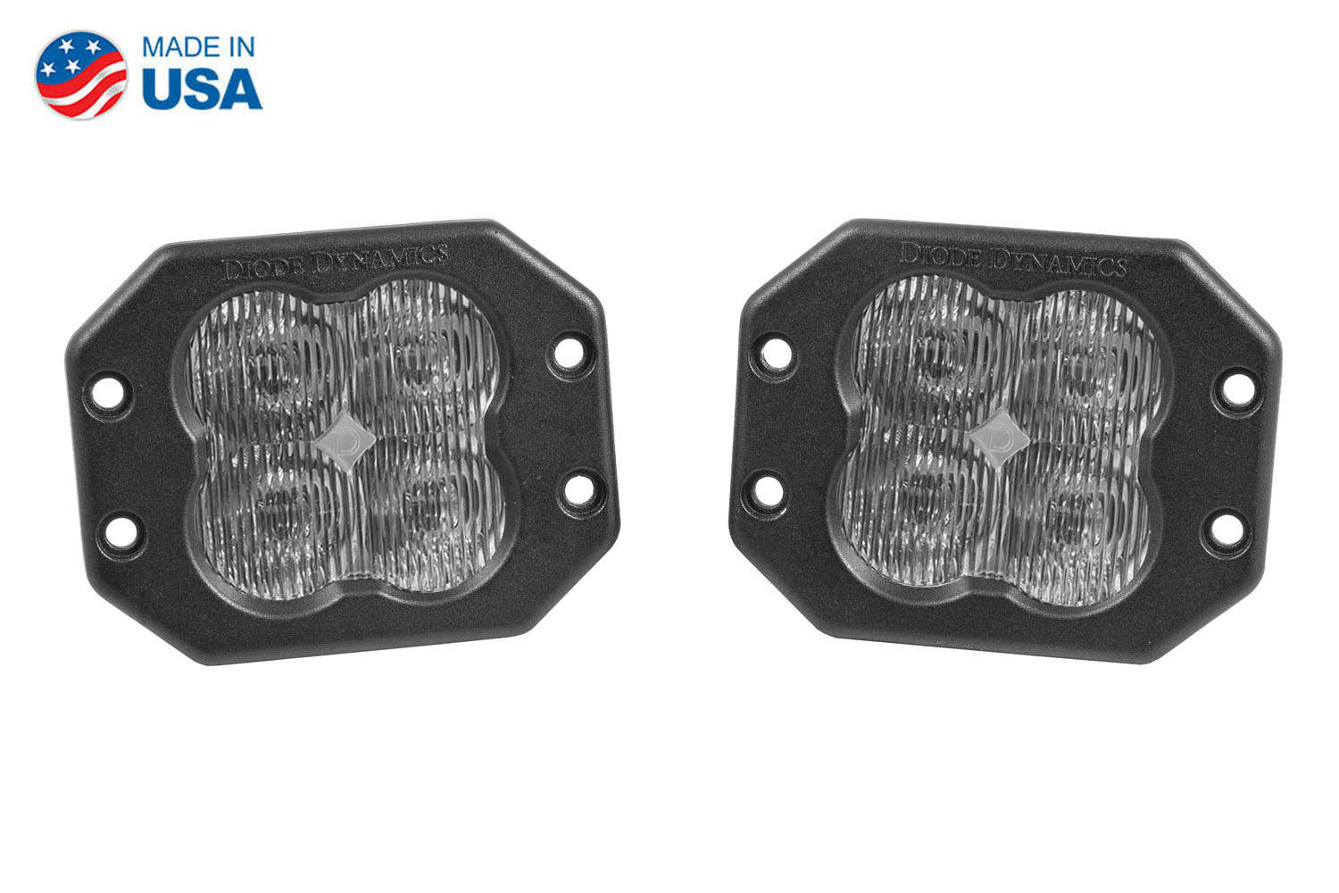 Diode Dynamics Worklight SS3 Sport White SAE Fog Flush (pair)