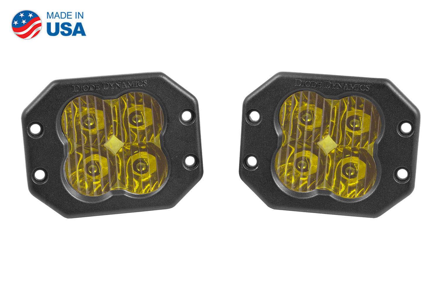 Diode Dynamics Worklight SS3 Sport Yellow Driving Flush (pair)
