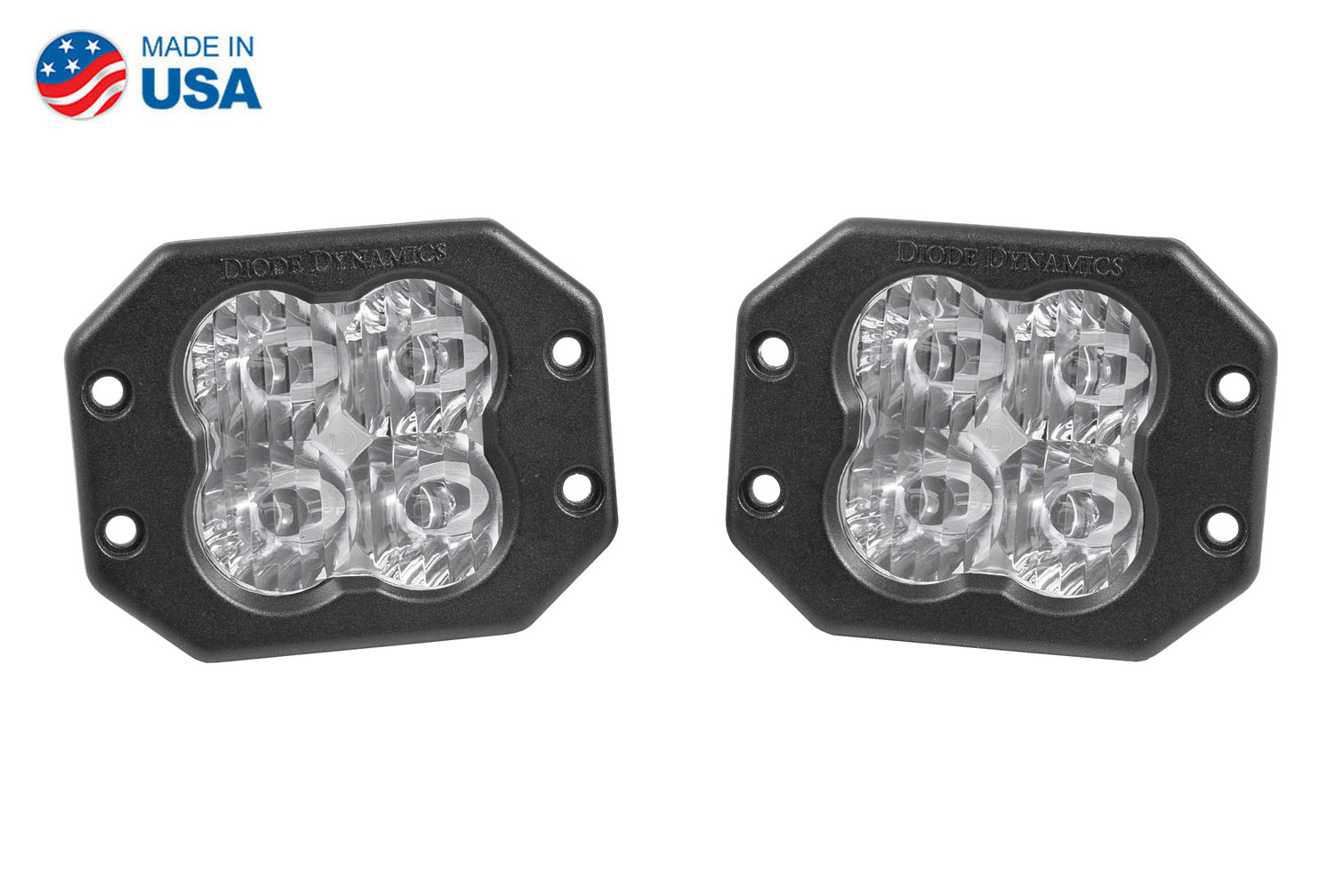 Diode Dynamics Worklight SS3 Pro White SAE Driving Flush (pair)
