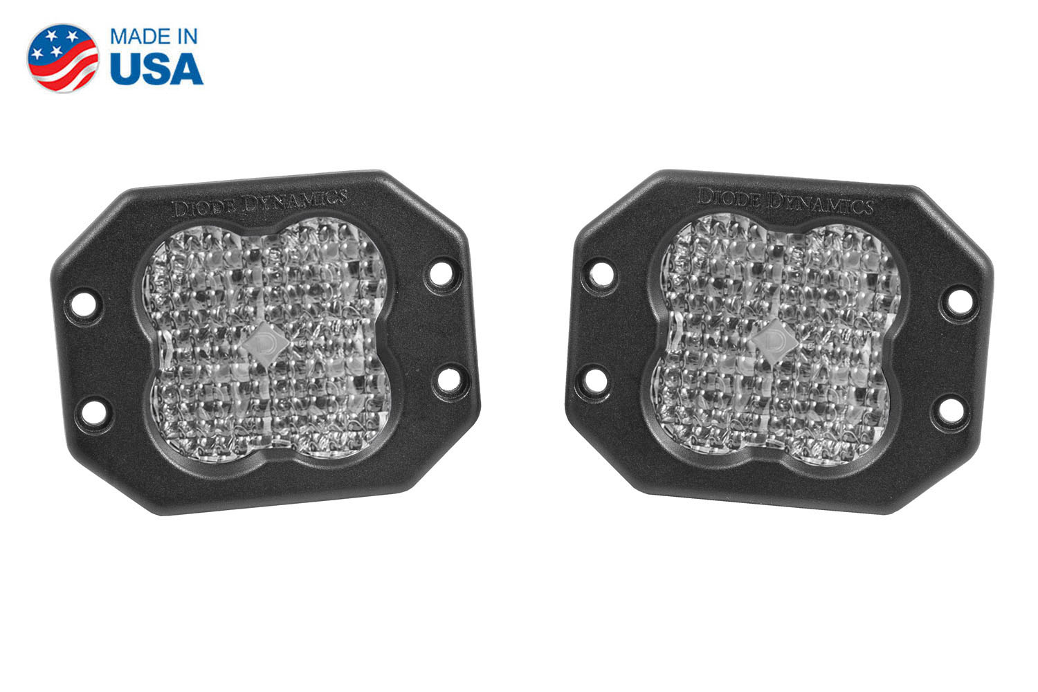 Diode Dynamics Worklight SS3 Pro White Flood Flush (pair)