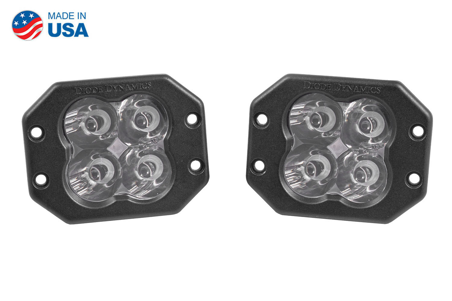 Diode Dynamics Worklight SS3 Pro White Spot Flush (pair)