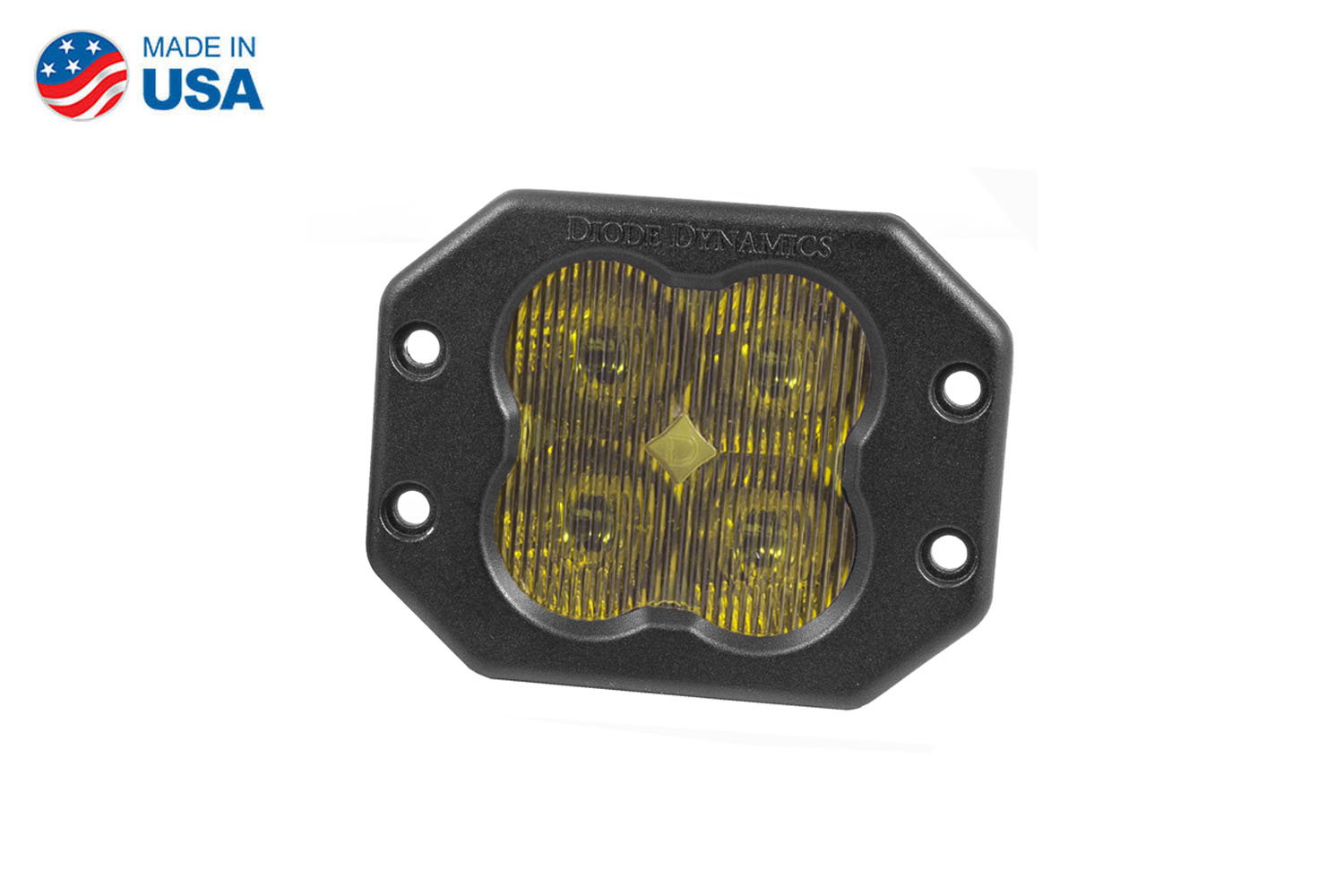 Diode Dynamics Worklight SS3 Pro Yellow SAE Fog Flush (single)