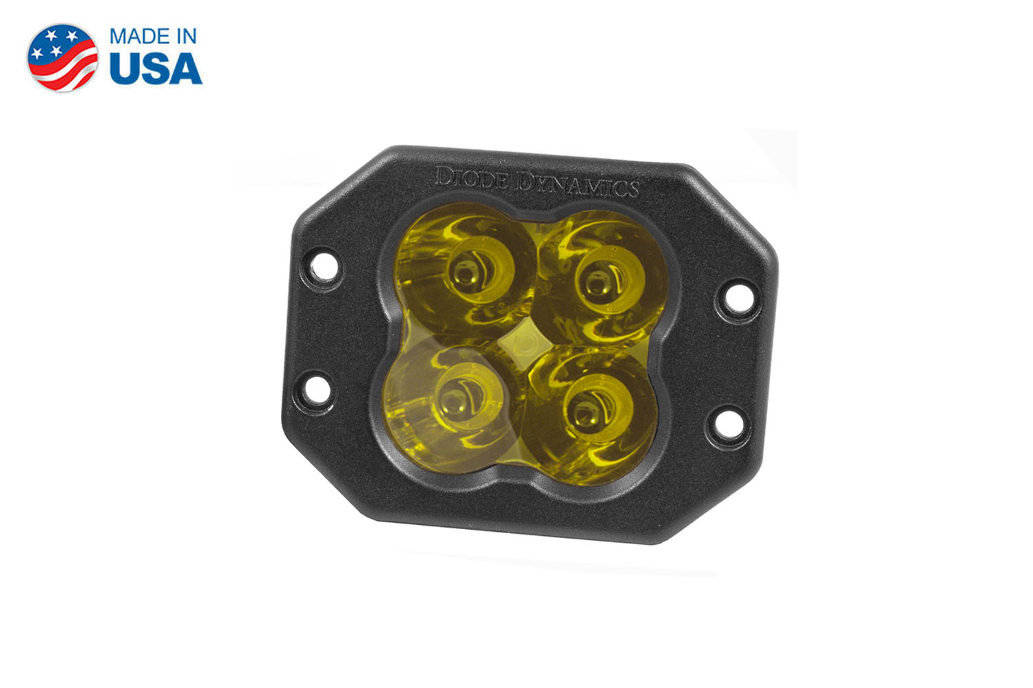 Diode Dynamics Worklight SS3 Pro Yellow Spot Flush (single)