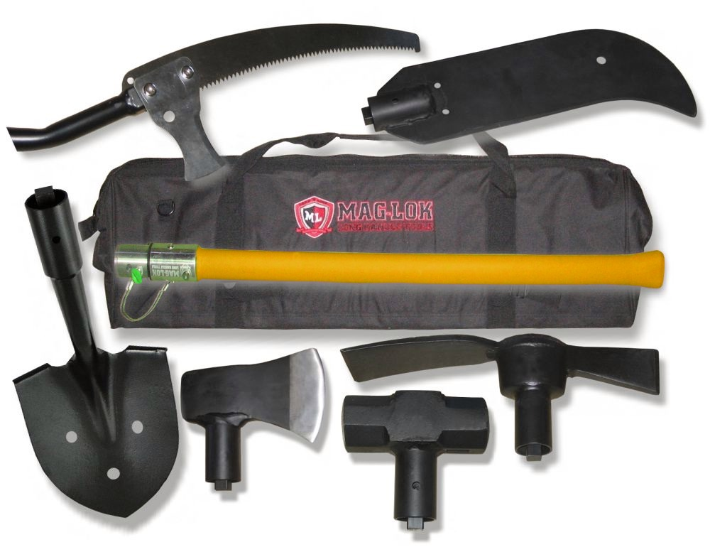 Mag-Loks 6-PC Offroaders Tool Kit (Axe, Cresent Saw, Bush Hook, Sledge Hammer, Shover, more..)