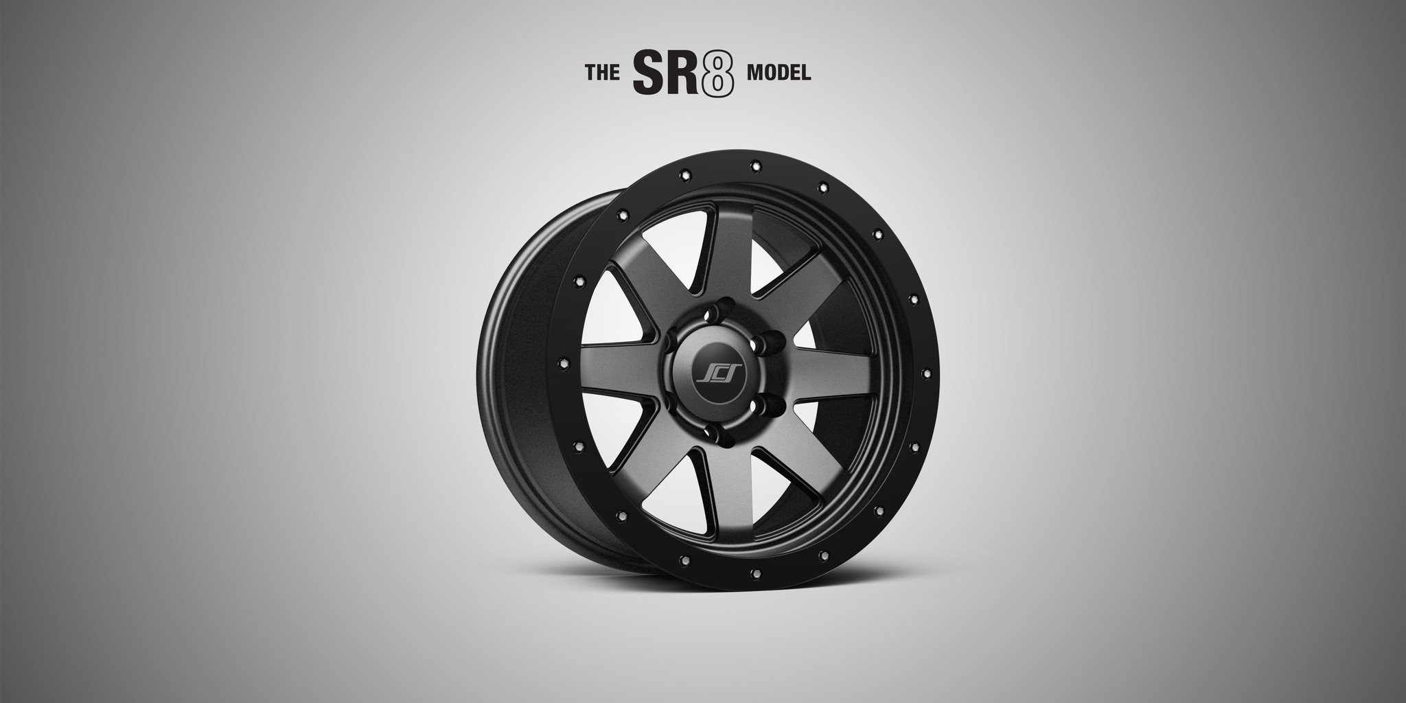 "Stealth Custom Series SCS SR8 16"" Matte Black Wheel"
