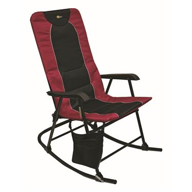 Faulkner Dakota Rocking Chair 42.1in x 24 in x 35.8 (300 lb. capacity) - Burgandy/Black