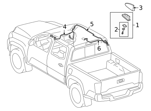Toyota Electrical/Antenna & Radio for 2020 Tacoma