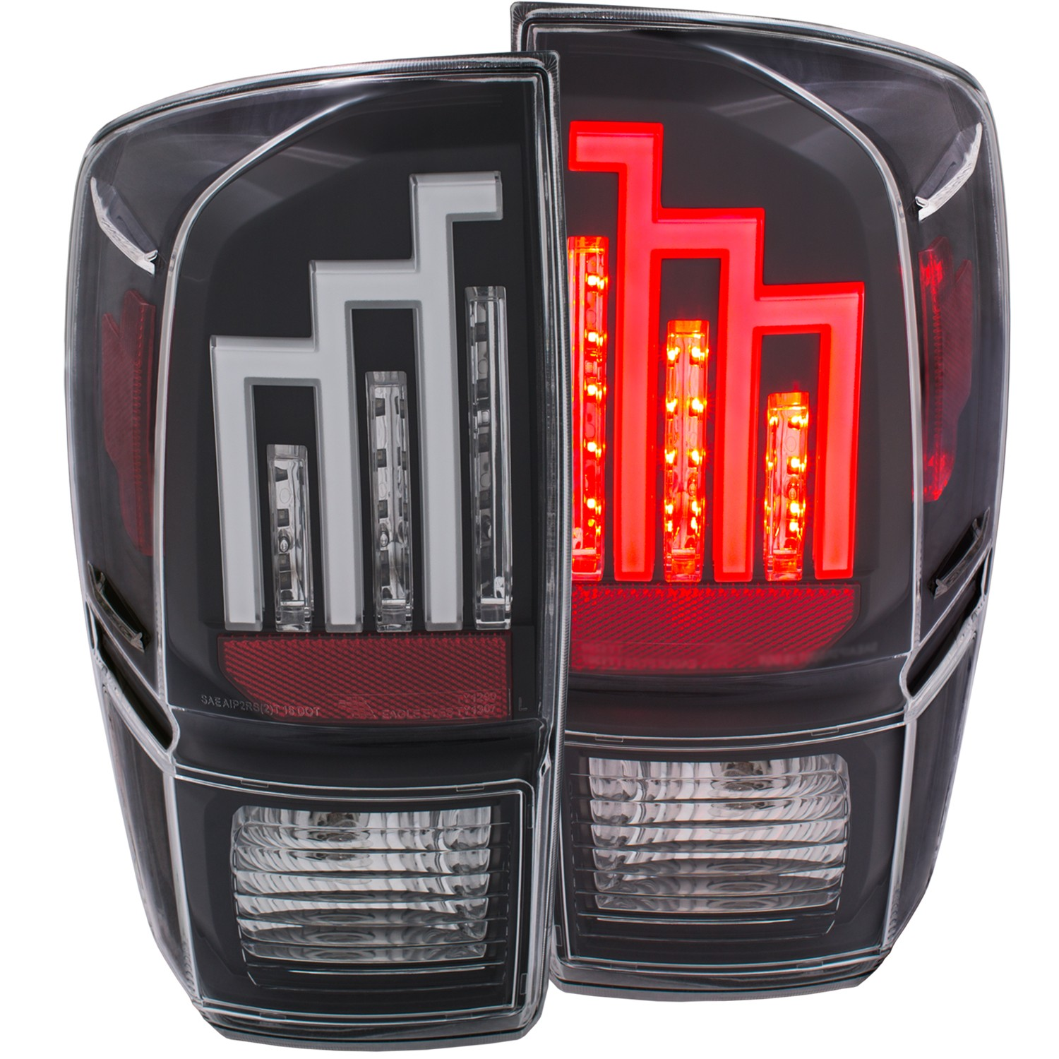 Anzo Tacoma LED Tail Light - Black (2016-19}