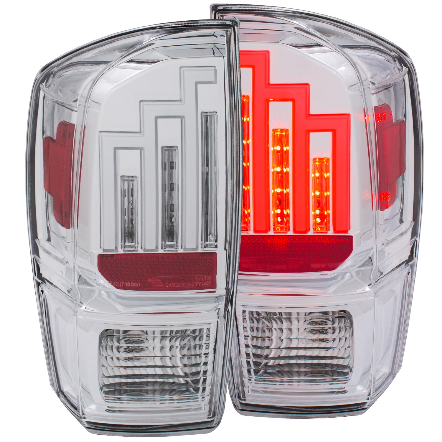 Anzo Tacoma LED Tail Light - Clear Chrome (2016-19)