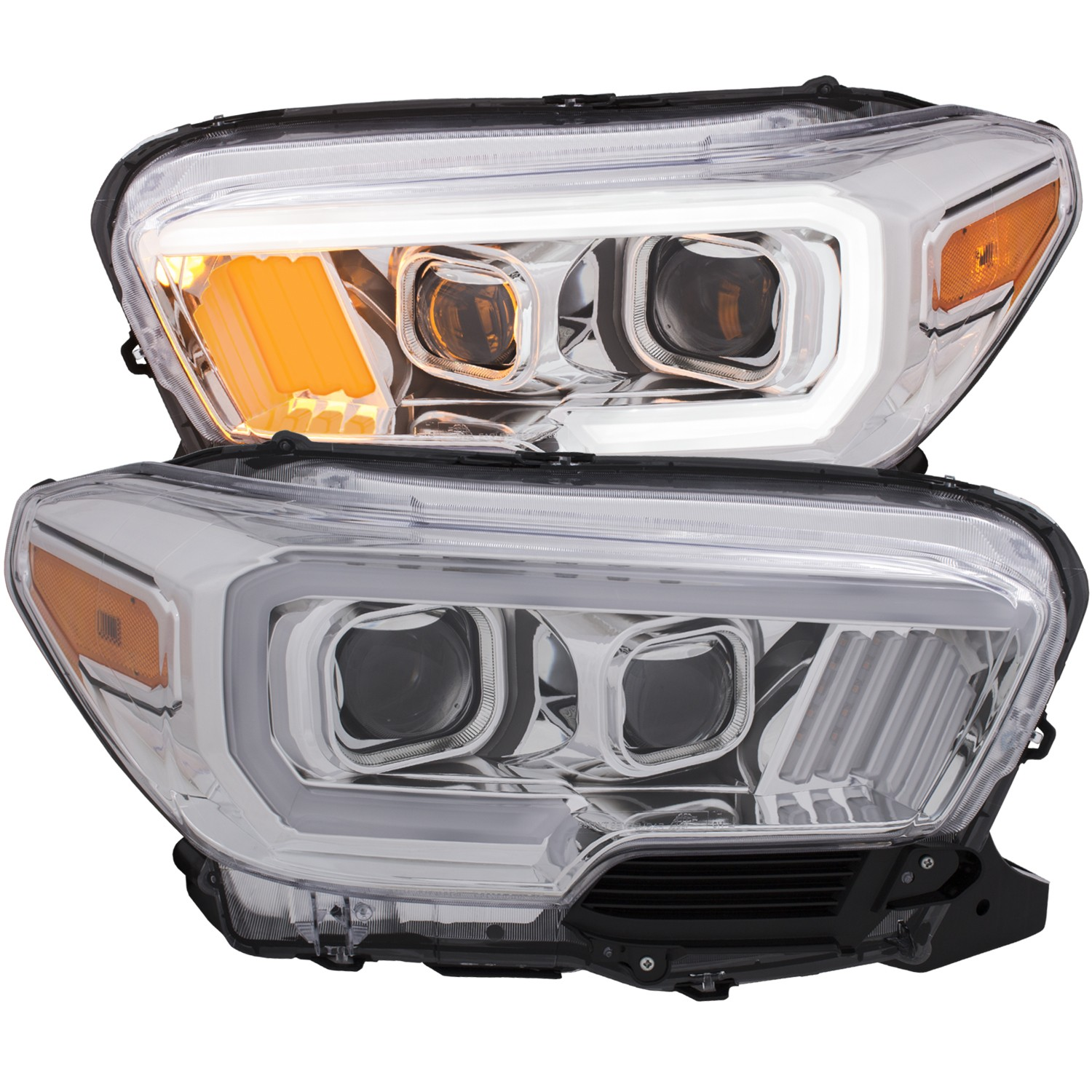 Anzo Tacoma Projector Plank Style Headlight Clear w/Amber (2016-18)