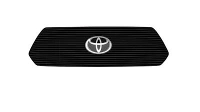 T-Rex Grille Insert Horizontal Bar Style w/Emblem Cutout; PowerCoated; Black Aluminum -Ships Free