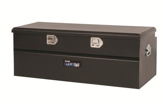 Tool Box; Hardware; Chest; Single Lid; Textured; Black; Steel; 46-1/2 Inch Width x 19 Inch Length x 16 Inch Height