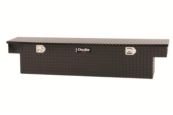 Tacoma Crossover, Single Lid, Diamond Tread, Black Aluminum Tool box