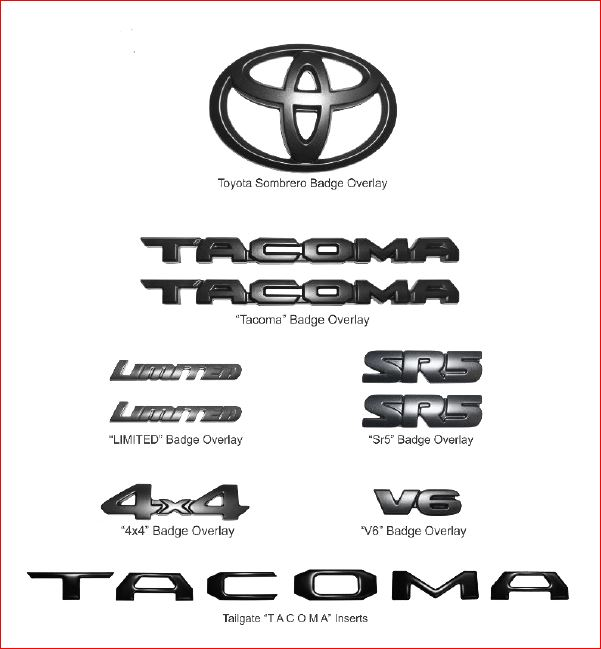 Tacoma Blackout Cover-Lay Applique Full Set - 2016+