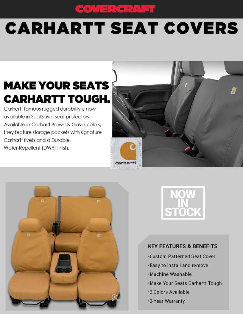 Carhartt Tacoma Front & Rear Seat Covers - Pre 2016