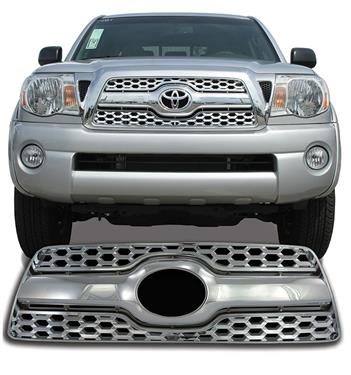C2C Grille Insert Honeycomb Overlay (3 pc) Chrome Plated 2011