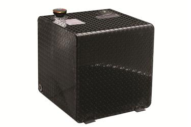 Dee Zee Liquid Transfer Tank; Diesel; 55 Gal; Black Diamond Plate Square