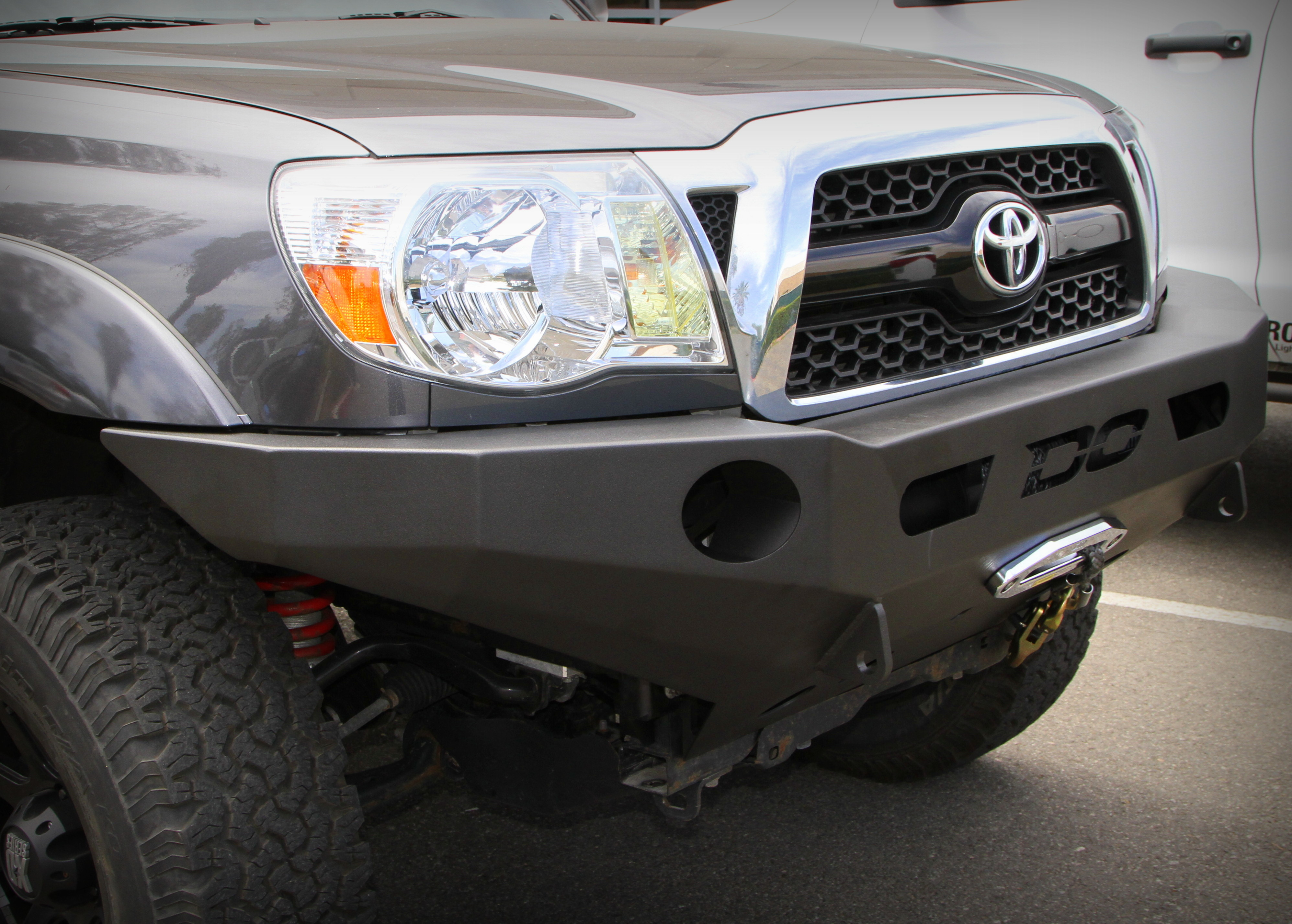 DEMELLO OFF-ROAD TACOMA FLAT TOP FRONT BUMPER with Powder Coat 12-15