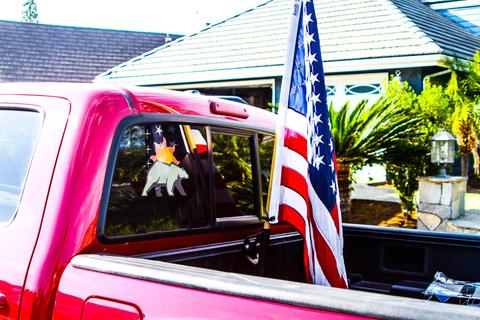 Cali Raised Truck Bed Rail Flag Mount