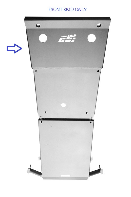 CBI Offroad Tacoma Bare Aluminum Front Skid Plate 2005+