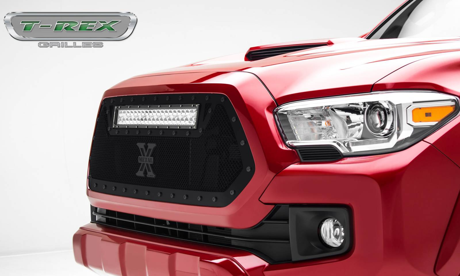 "T-Rex Tacoma Stealth *Torch* Grille Insert w/ (1) 20"" LED Light - All Black - 2016-2017 - FREE GROUND SHIPPING"