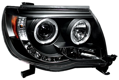 IPCW 05-11 Tacoma Projector Headlights Black with Rings