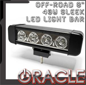 "8"" 40W Sleek LED Light Bar"