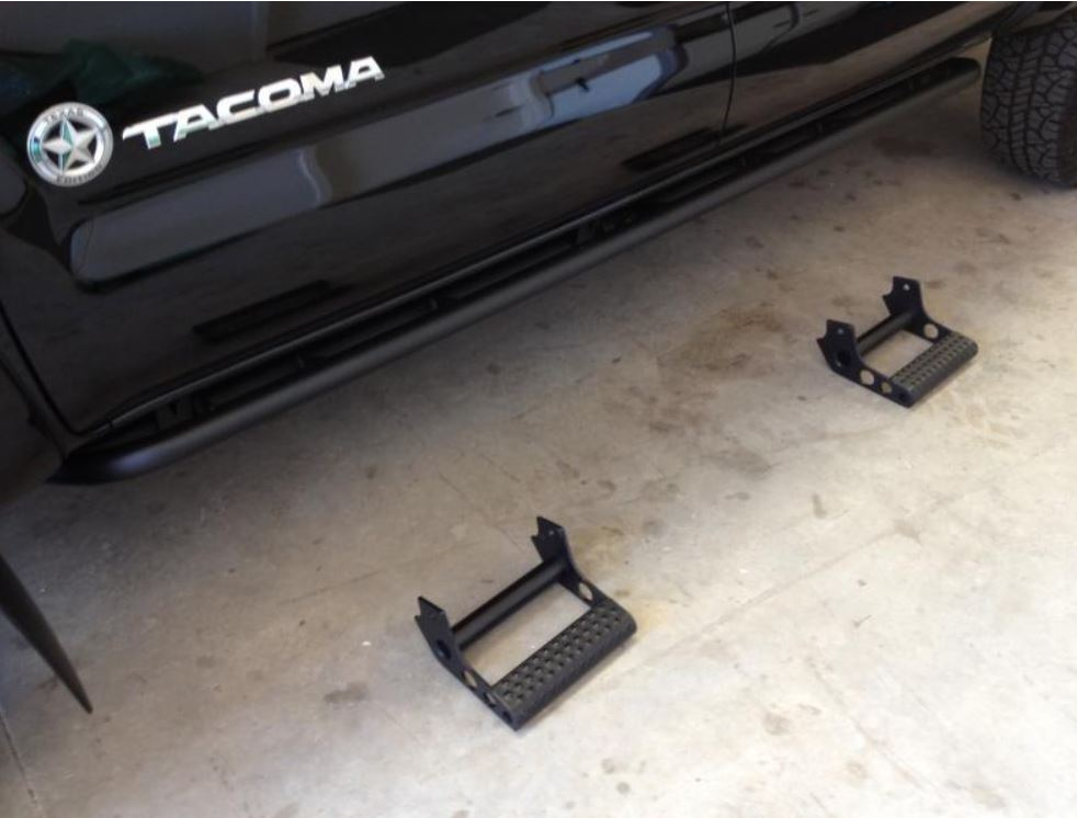 Toyota Tacoma Double Cab RKR-Rails Detachable Step Option 16-17