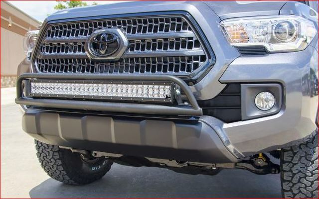 "N-FAB Front Off-Road Light Bar for 30"" LED Light 2016+ Tacoma Textured Black"