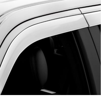 AVS Auto Ventshade Tacoma Dbl Cab Low-profile Rainguard Super White Code 40 (Set of 4) - 2016-2020