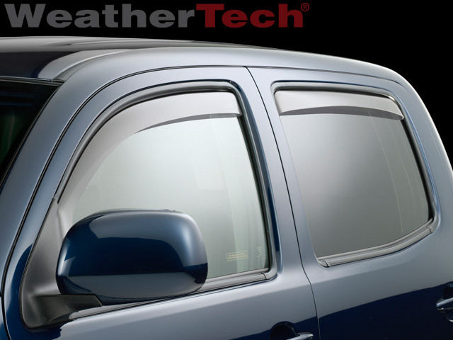 WeatherTech Side Window Deflectors - Double Cab - Dark Smoke - (Set of 4) - 2016+