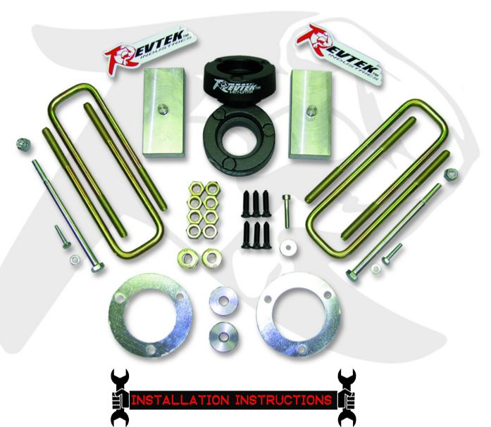 Revtek 3″ FRONT / 1.25″ REAR SPLIT SPACER LIFT SYSTEM 2005-2015