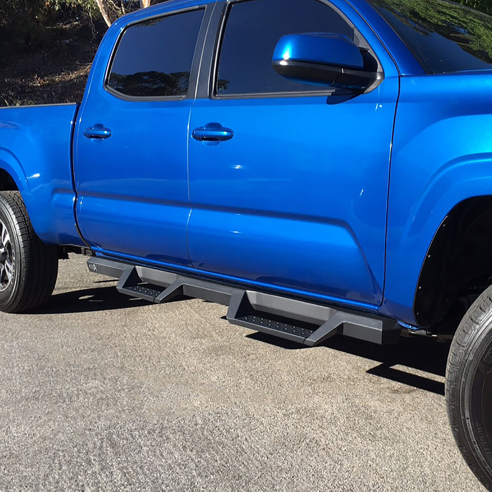 Bars In Tacoma >> Textured Drop Step Bars Hooped Nerf Bars 2005 2015 Toyota