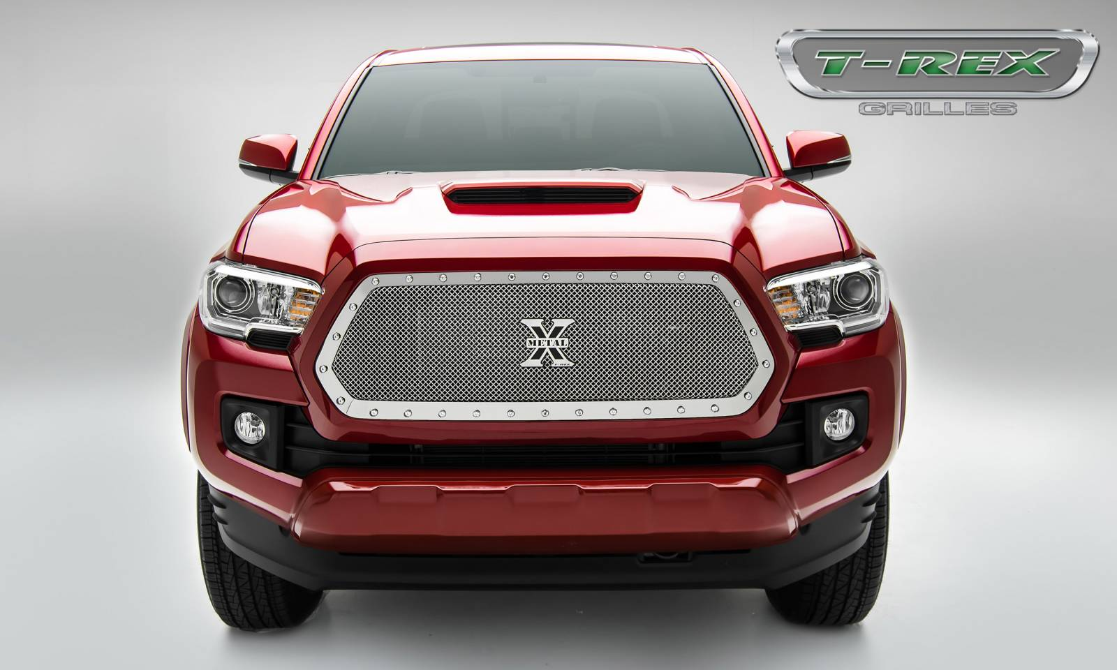 T-Rex Tacoma Stealth X-Metal Grille Insert - Polished - 2016+