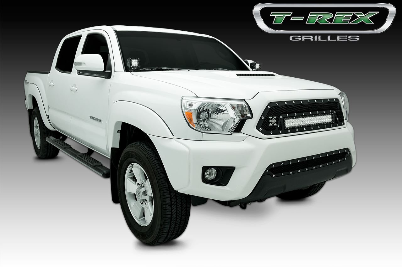 "T-Rex Tacoma, TORCH Series LED Light Grille 1 - 20"" LED Bar, Formed Mesh Grille, Main, Insert, 1 Pc, Black 2012-2014"
