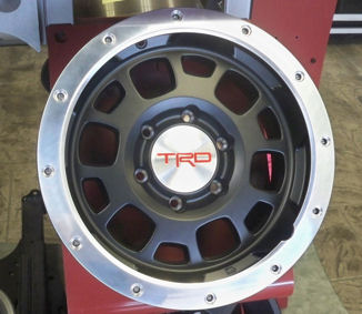 "TRD 16"" Black Off-Road Beadlock Style Wheel (1)"