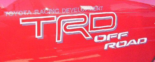 TRD Off-Road Logo Red/White Tacoma 2005-2015