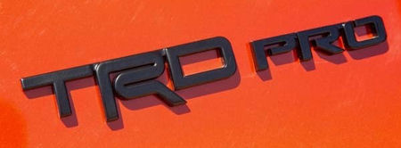 TRD PRO Badge - Black (1 emblem)