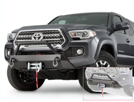 Warn SEMI HIDDEN KIT WINCH MOUNTING SYSTEM Tacoma 2016+