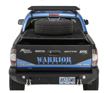 Warrior Lower Tailgate Cover for 2005-15; BLACK POWDER COAT DIAMOND PLATE
