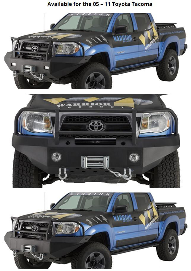 Warrior Winch Bumper w/Brush Guard 05-11