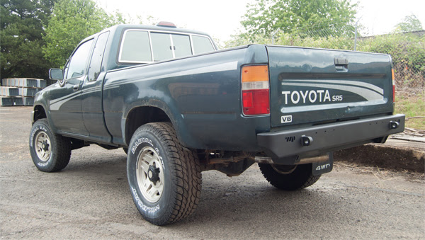 Warrior Pickup Rear Plate Bumper 1988-1995