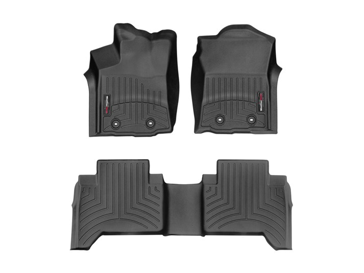 WeatherTech Pair Tacoma Double Cab Floor Liners - 2016+ - BLACK
