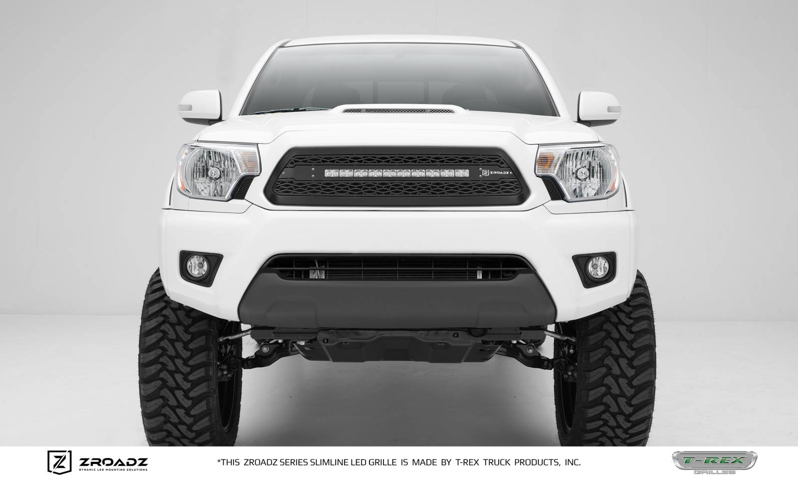Toyota Tacoma Zroadz Series Main Insert Grille W One 20 Inch E Locker Wiring Harness Slim Line Single Row Led Light Bar Includes Universal